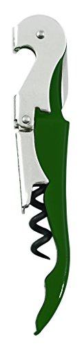 Truetap Green Double Hinged Waiters Corkscrew by True