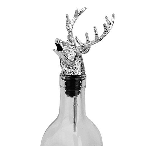 Stainless Steel Wine Bottle Pourer Wine Aerator Liquor Pourer Deer