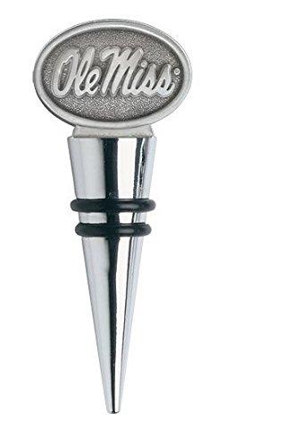 Ole Miss Cone Shaped Metal Bottle Stopper