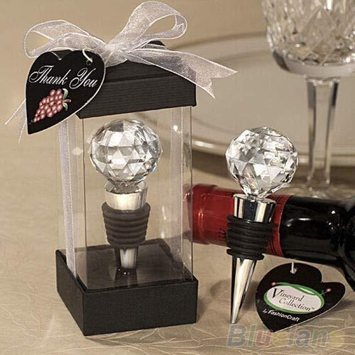 EP_ Novelty Crystal Elegant Red Wine Bottle Stopper Reusable Vacuum Sealed Gift