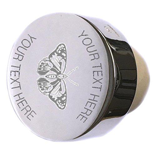 Butterfly Sterling Silver Bottle Stopper Engraved