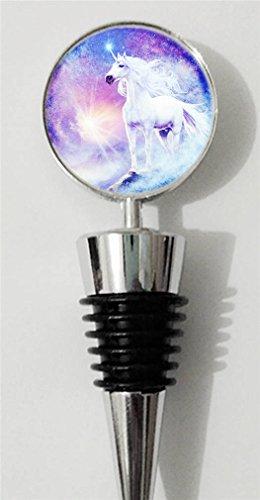 RainbowSky Beautiful Unicorn Personalized Wine Bottle Stopper Silvery C1043