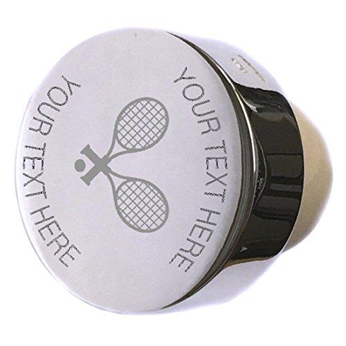 Tennis Player Racket Sport Sterling Silver Bottle Stopper Engraved