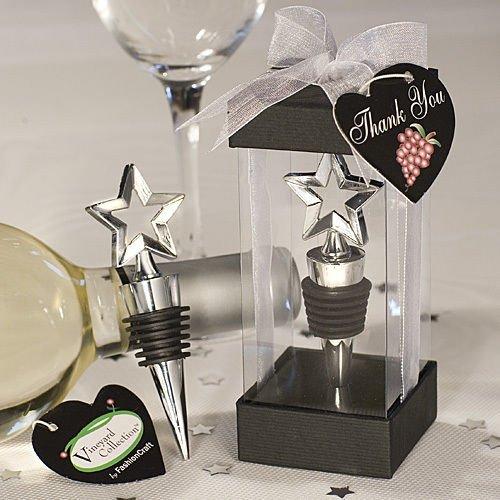 Crystal Wine Bottle Stoppers Star Design Wine Stopper Favor Wedding Shower Party Gift Favors