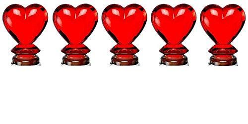 Wine Bottle Stopper  Topper Red Heart Design Heart Shape Wine and Beverage Bottle Stoppers - 5 COUNT