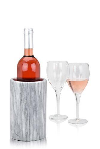 Modern Innovations Elegant Grey Marble Wine Cooler Champagne Chiller - Kitchen Utensil Holder Tool Storage Organizer and Flower Vase