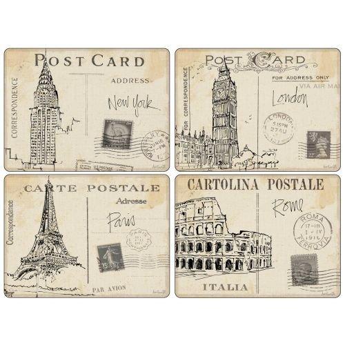 Pimpernel 4 Premium Hardboard Placemats Postcard Sketches Standard Version