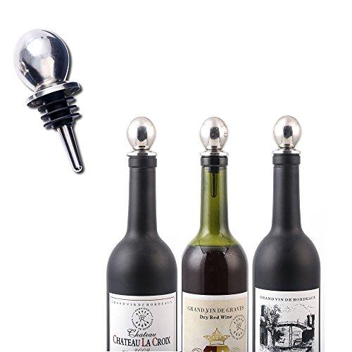 Upgrade Stainless Steel Bottle Stoppers Liquor Beer Wine Champagne Bottles Saver Cork Stopper 5-Pack