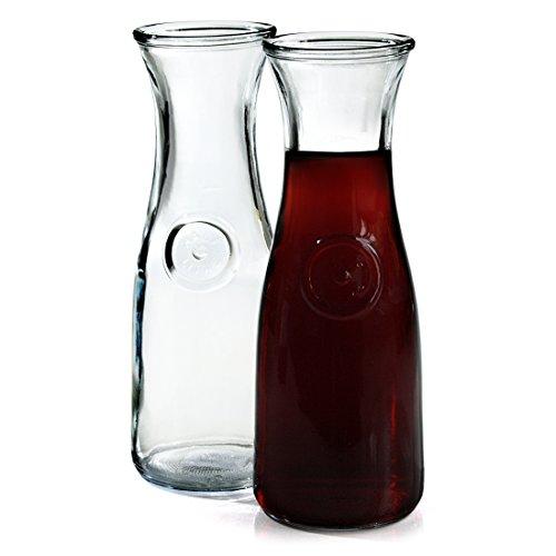 Anchor Hocking 05 Liter Glass Wine Carafe Set of 2