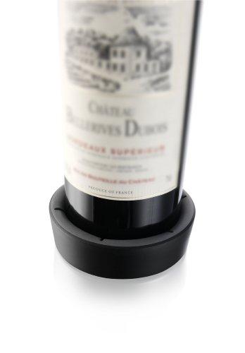 Vacu Vin Wine Bottle Coaster  Surface Protector - Black