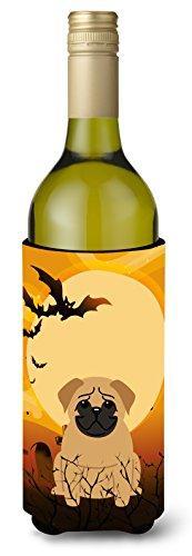 Carolines Treasures BB4273LITERK Halloween Pug Brown Wine Bottle Beverage Insulator Hugger 750ml Multicolor