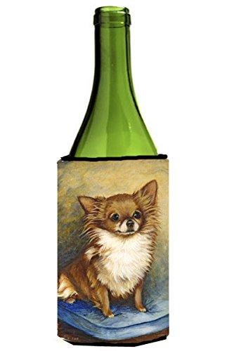Chihuahua Long Hair Brown Wine Bottle Beverage Insulator Hugger MH1036LITERK