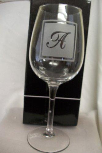 Ganz A Initial Wine Glass