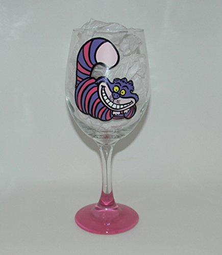 Cheshire Cat wine glass