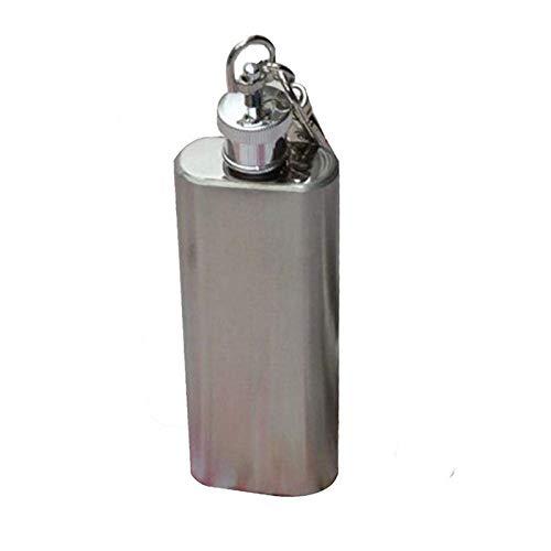 Mini Stainless Steel Hip Flask 2oz Pocket Wine Bottle Portable Alcohol Flagon for Discrete Shot Drinking of AlcoholWhiskeyRumVodka Gift for Man