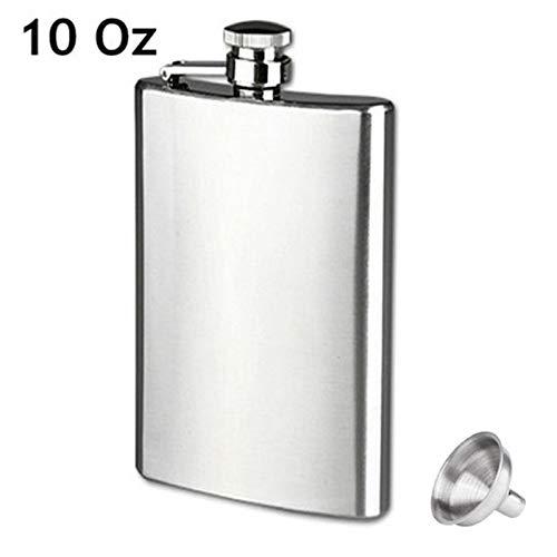 Sumerlly Stainless Steel Hip Liquor Flask Whiskey Alcohol Pocket Wine Bottle