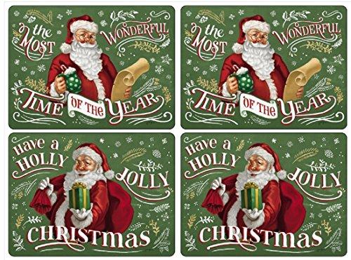 Pimpernel Set of 4 Santas List Placemats