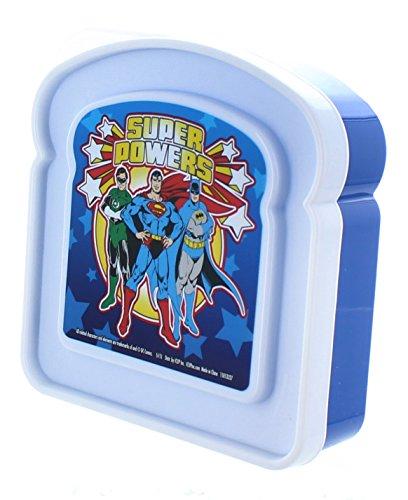 DC Super Powers Sandwich Box Blue