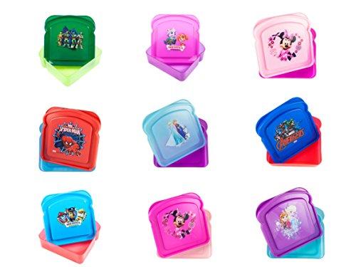 Disney Reusable BPA-Free Sandwich Box Styles May Vary