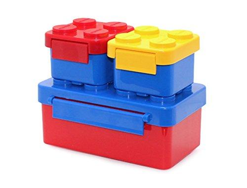 Stackable Lunch Box Bento Box Container Salad Box Oxford Block Brick Design For Children Kids Family Picnic Travel BoxSet