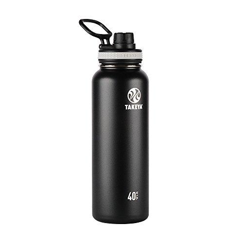 Takeya Originals Vacuum-Insulated Stainless-Steel Water Bottle 40oz Black