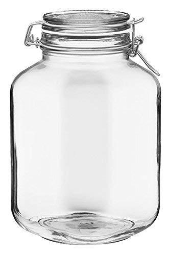 Bormioli Rocco Fido Square Clear Jar 10150-Ounce