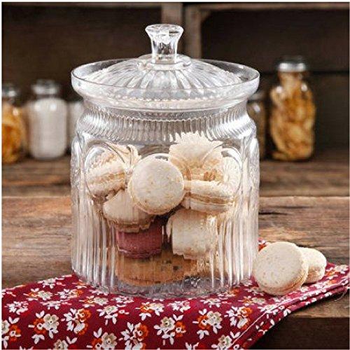 The Pioneer Woman Adeline Glass Cookie Jar Clear