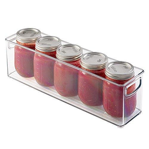 mDesign Mason Canning Jar Storage Bin Holds Five 16 oz Pint Jars - Clear