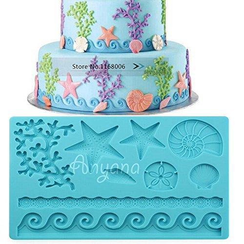 Anyana Sea Shell Shape Fondant Silicone Wedding Cake Mould Chocolate Decoration Tools 018a