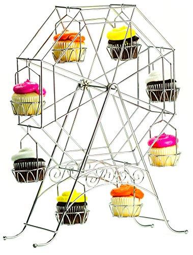Ferris Wheel Cupcake Stand - Rotating Dessert Holder Station Tower - Spinning Cupcake Tray