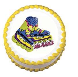 Cakesupplyshop Itemr61t - Roller Skate Roller Blades Birthday Party Lay-on Cake Decoration Topper