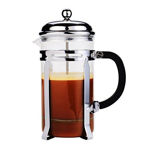 Stainless Steel French Press Tea Makers 8 Cup 1 liter 34 oz -Best AOPERK Coffee Press Pot with 304 Grade BlackAP315