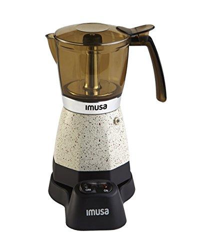 IMUSA USA B120-60011 Electric EspressoMoka Maker 3-6-Cup White