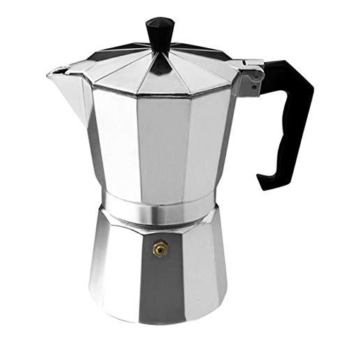 Liobaba Aluminum 8-Angle Moka Pot Espresso Stove Top Coffee Maker Moka Espresso Cup Continental Moka Percolator Pot 3cup6cup