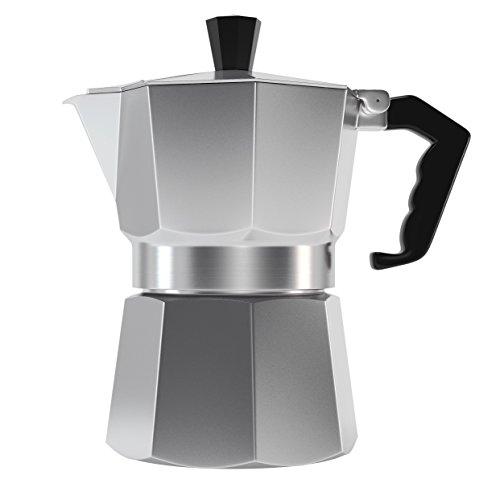 Nights Compression Classic 6 Cup Capacity Stovetop Italian Moka Espresso Maker