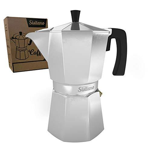 6 Cup Moka Pot Mocha Pot - Stovetop Espresso Maker - The Perfect Stove Top Italian Coffee Maker - Sisitano