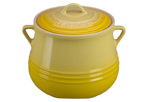 Le Creuset Heritage Stoneware Covered Bean Pot 4-12-Quart Soleil