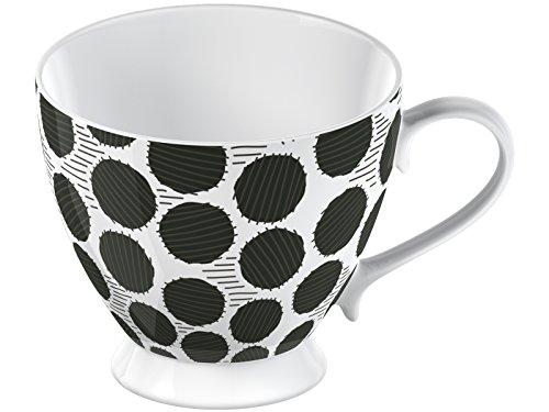 La Cafetiere Large Black Spot Fine China Footed Mug