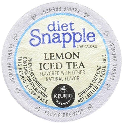 Snapple Diet Lemon Iced Tea Keurig K-Cups 12 Count Pack of 6 Packaging May Vary