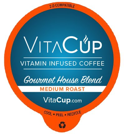 VitaCup Top Rated Coffee Cups Infused With Essential Vitamins B12 B9 B6 B5 B1 D3 in Single Serve Keurig Compatible K Pods Gourmet House 16