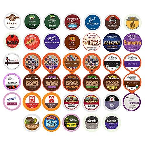 40-count BOLD DARK ROAST COFFEE Single Serve Cups For Keurig K Cup Brewers Variety Pack Sampler