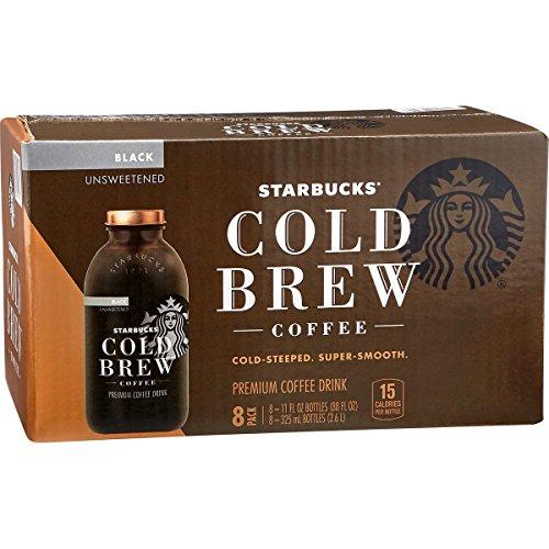 Starbucks Cold Brew Premium Black Coffee Drink Unsweetened 11 oz 8-Pack