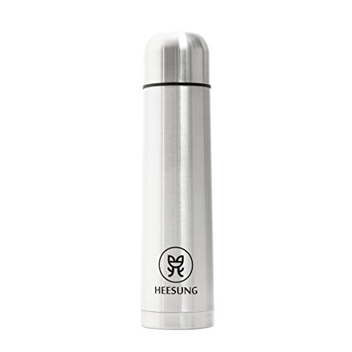 Heesung Double Wall Stainless Steel Vacuum FlaskCoffee Flask Vacuum Insulated 34oz Water Bottle 1L large Vacuum bottle,Big Capacity and Size Travel Flask