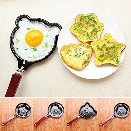4pcs New Kitchen Non Stick Egg Frying Pancakes Pan Housewares Easy Mould Cook Tools