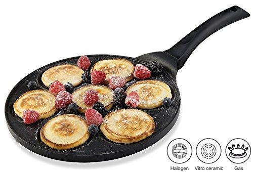Gourmia GPA9510 Blini Pan Nonstick Silver Dollar Pancake Pan With 7-Mold Design 27 cm Diameter x 135 cm Height