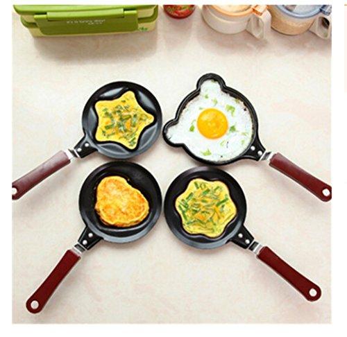 MagicMen Mini love Fried Eggs Nonstick Pan Pancake Pan Creative DIY Fried Eggs Flat Pan Love