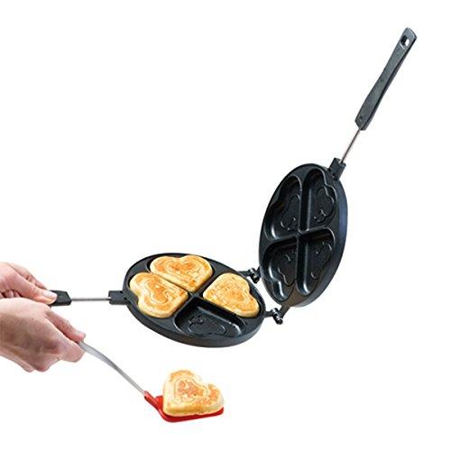 Starfrit 030064-008-0000 Heart Shape Pancake Pan Gray