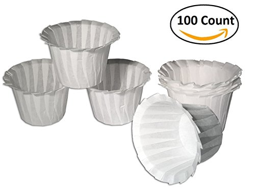 Fill N Save Universal Optional Paper Filters for Reusable K Cups for Keurig Brewers 100 count