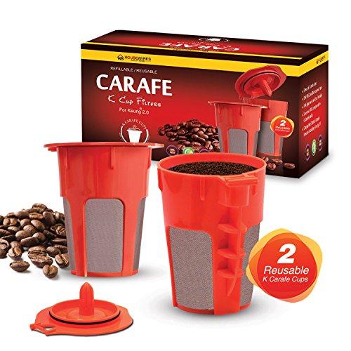 Housewares Solutions 2 RefillableReusable Carafe K Cup Filters for Keurig 20 K200 K300 K400 K500 Series of Brewing Machines