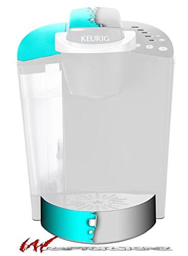 Ripped Colors Neon Teal Gray - Decal Style Vinyl Skin fits Keurig K40 Elite Coffee Makers KEURIG NOT INCLUDED